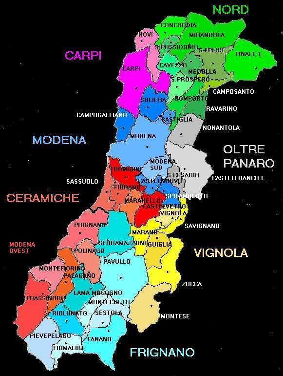Zone Provincia di Modena